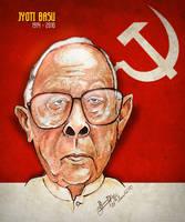 Jyoti Basu - Caricature by libran005