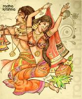 Radha Krishna by libran005