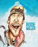 Bode Miller - Caricature