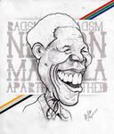 Nelson Mandela - Caricature