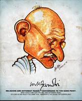 Mahatma Gandhi - Caricature by libran005