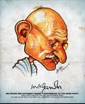 Mahatma Gandhi - Caricature