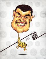 Yao Ming - Caricature by libran005