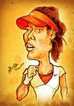 Li Na - Caricature