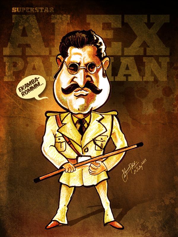 Rajnikanth - Caricature by libran005