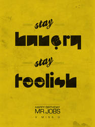 Stay Hungry Stay Foolish by libran005