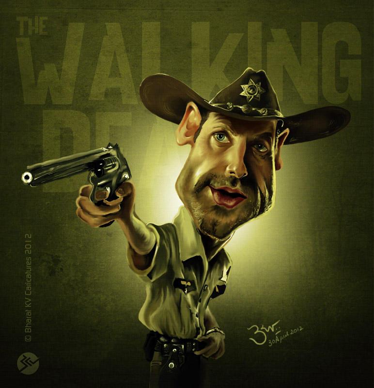 Walking Dead Caricature