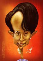 Aung San Suu Kyi - Caricature by libran005