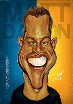 Matt Damon - Caricature