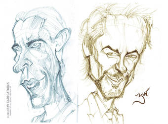 Bale Downey Jr. - Quick Caricatures