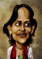 Arundhati Roy - Caricature by libran005