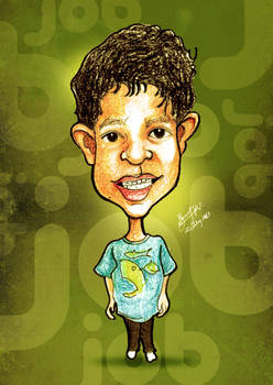 Caricature of JOB - the Cute Boy