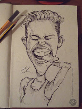 Miley Cyrus - Caricature