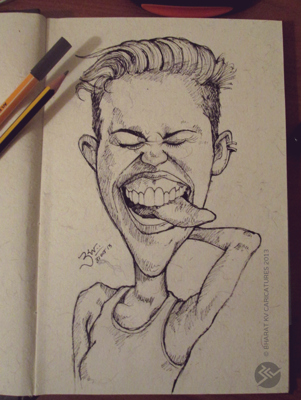 Miley Cyrus - Caricature by libran005