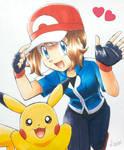 Serena and Pikachu