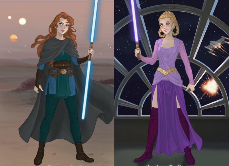 Star Wars Disney Princesses 4 By Zozelini On DeviantArt
