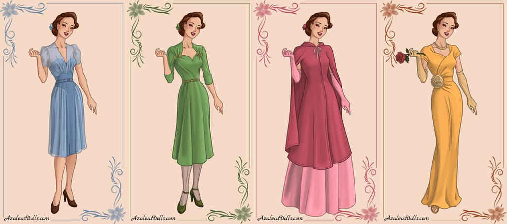 1940s Belle - Beauty and the Beast by zozelini