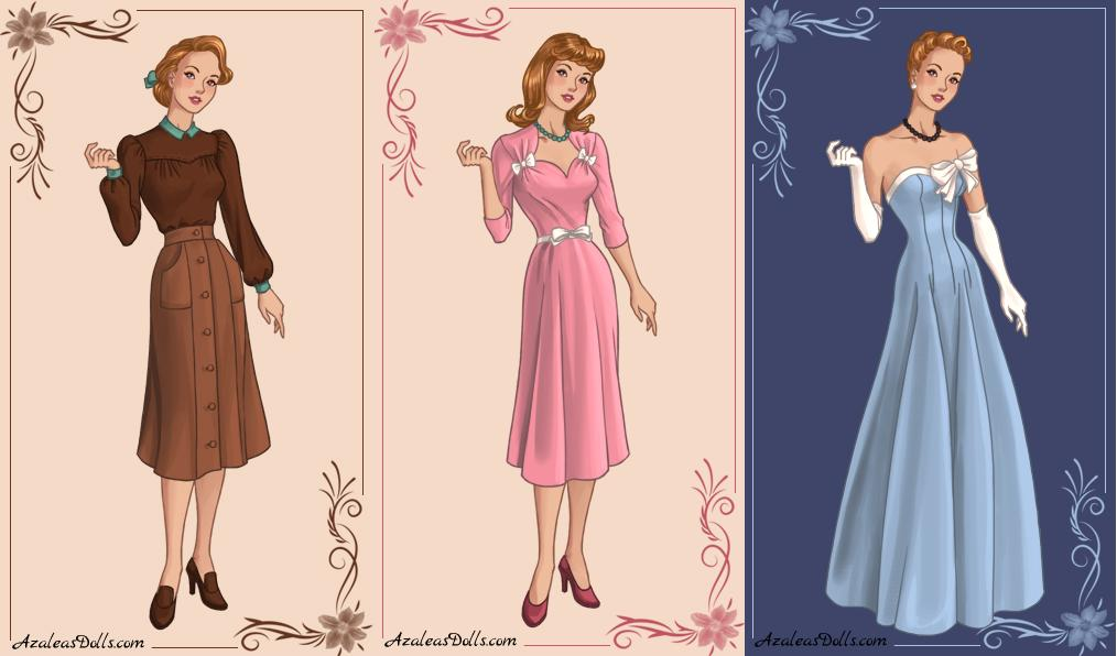 1940s Cinderella by zozelini