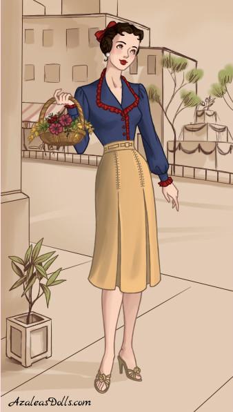1940s Snow White by zozelini