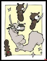 CoA - Samurai Squirrel by lemontea