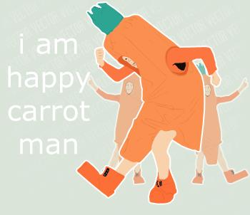 I am happy carrot man. by lemontea
