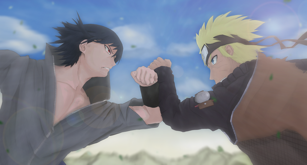 Naruto vs Sasuke by STChimera