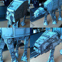 AT_AT Papercraft Finished (Details) by Ohnhai