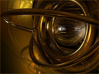 Abstract gold 1 by Dracofemi