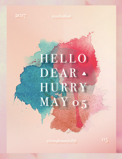 / Bye busy May / #2 by rosekaihan