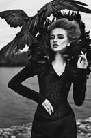 Queen of Ravens II by Avine