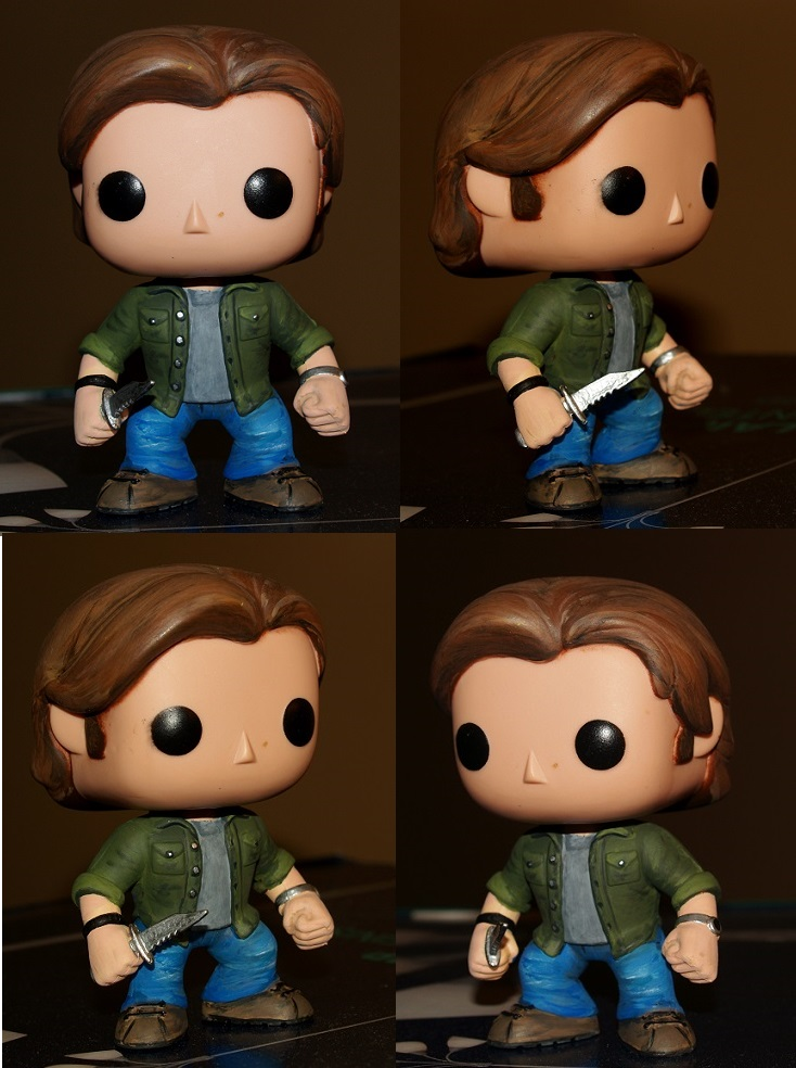 Funko Sam repaint collage by LMRourke