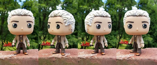 Aziraphale with His Flaming Sword