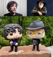 Custom Funko Pop Neil Gaiman and Terry Pratchett