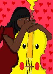 Joyce and Pikachu cello