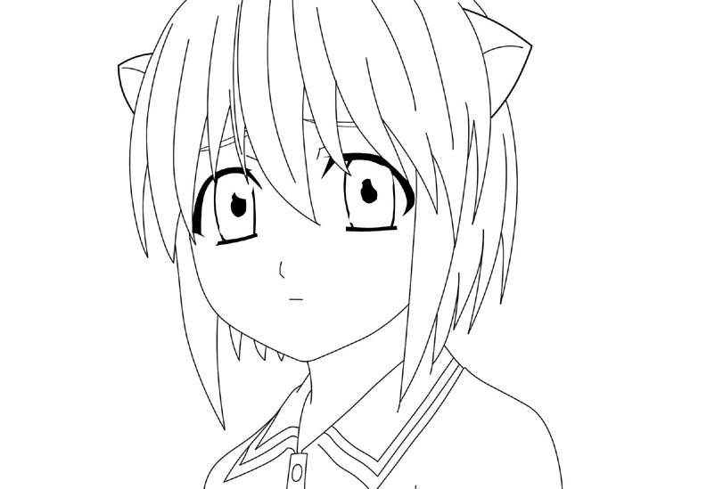 Young Lucy Line Art By LuftwaffeAce18 On DeviantArt