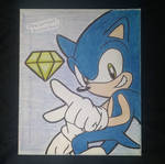 Sonic drawing on canvas by DarlanSpace