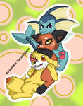 Some cute pokemons by DarlanSpace