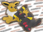 Jolteon and Umbreon by DarlanSpace