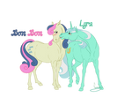 Realistic Bon Bon and Lyra