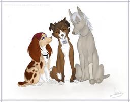 The Kingdom Hearts Trio by VanyCat