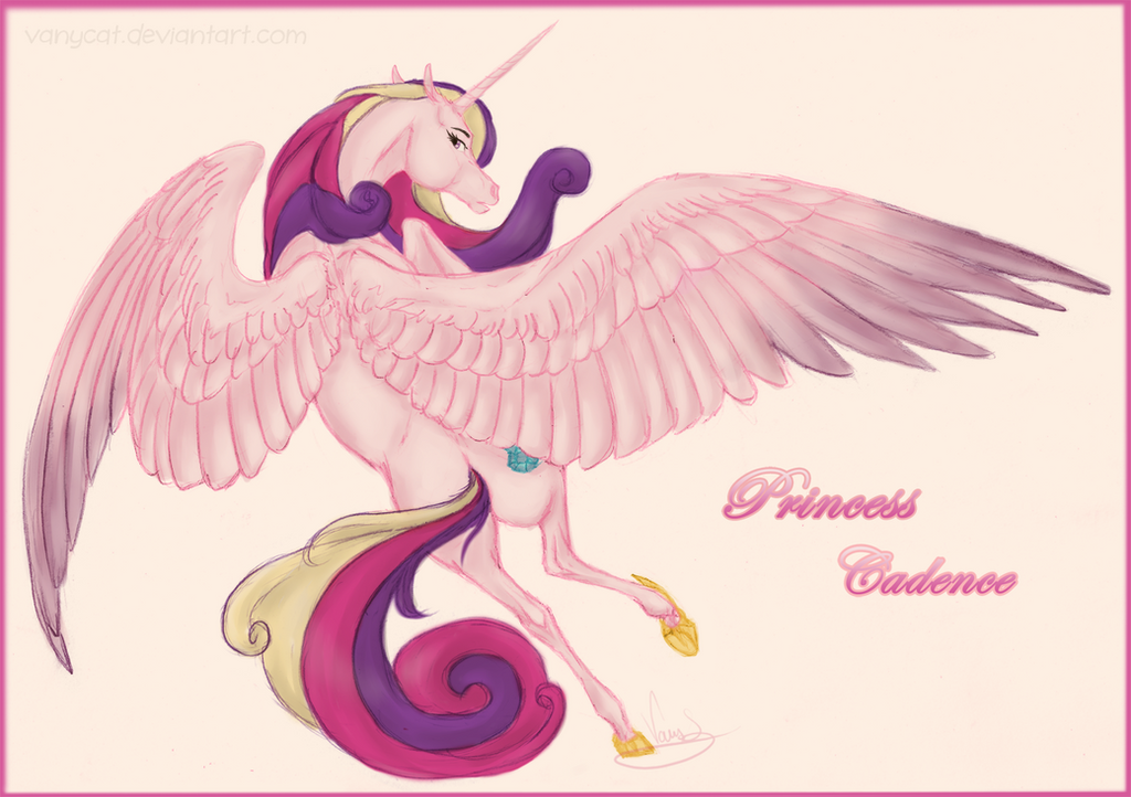 Realistic Princess Cadence by VanyCat