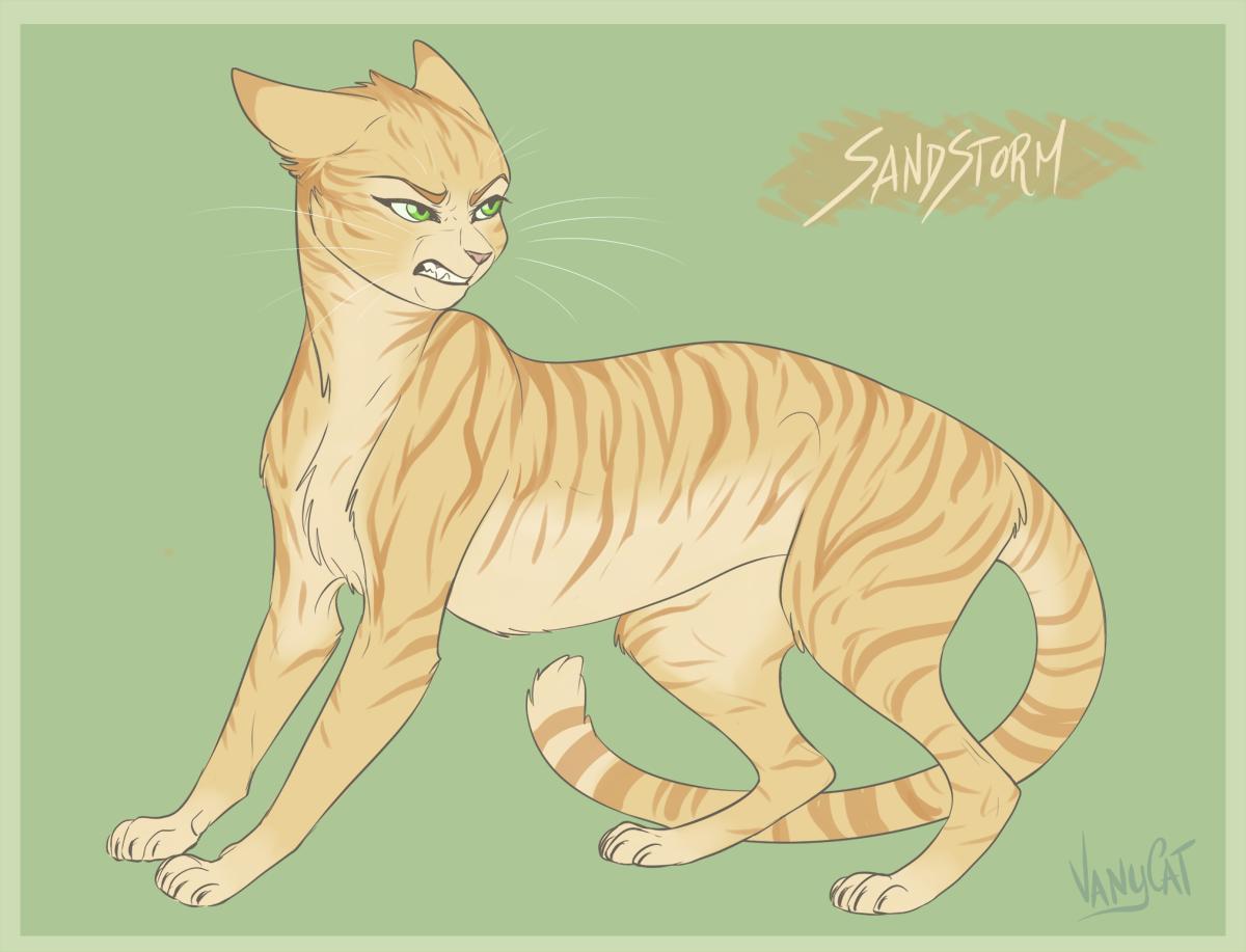 warrior cats sandstorm by vanycat on deviantart