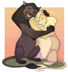Gay Lions by VanyCat