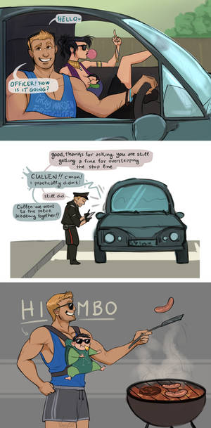 Going to the family barbecue - Modern au