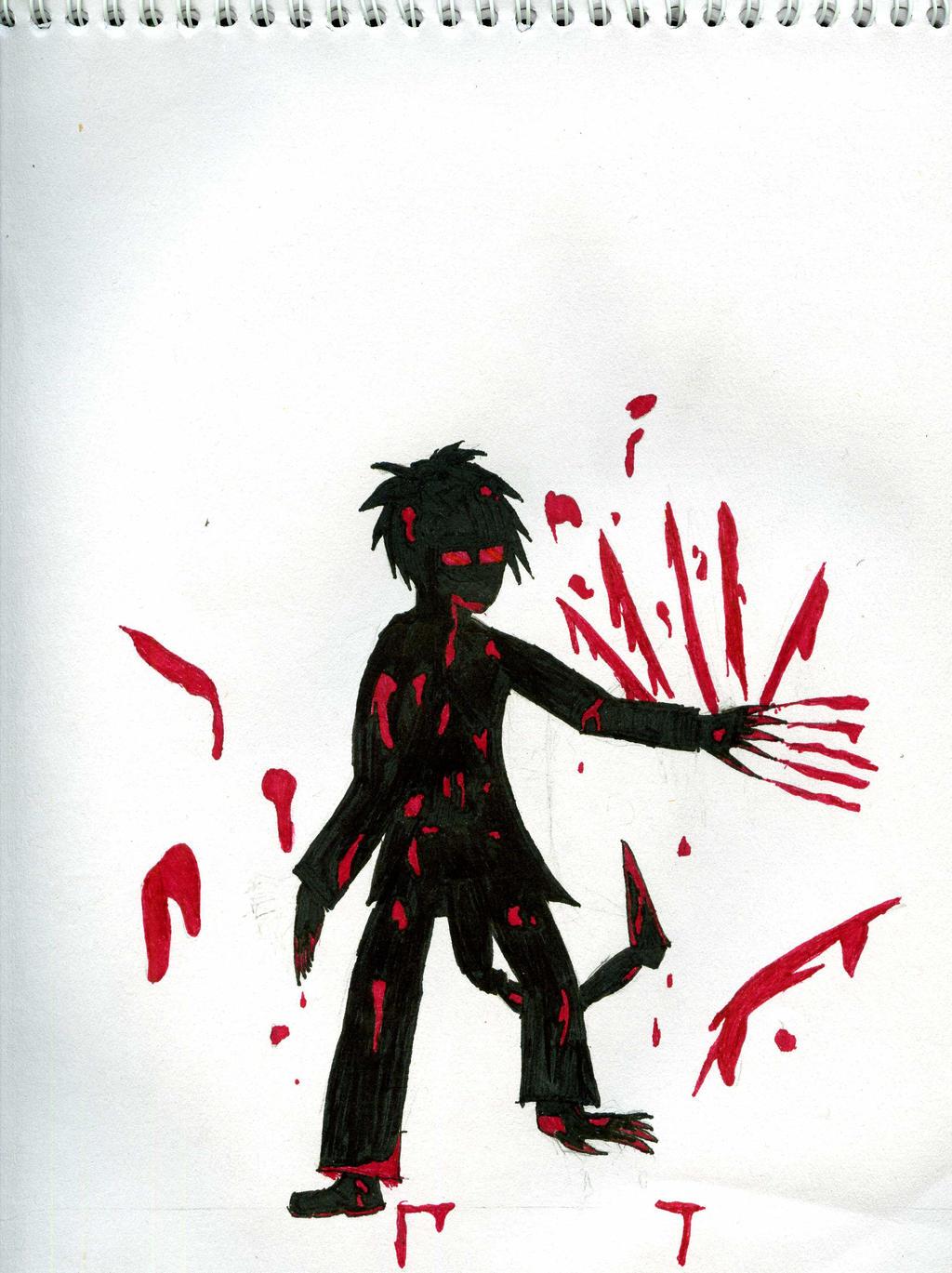 Villain OC silhouette preview by AnimeDogz