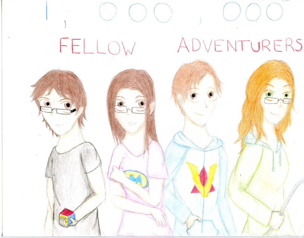 1,000,000 Fellow Adventurers by AnimeDogz