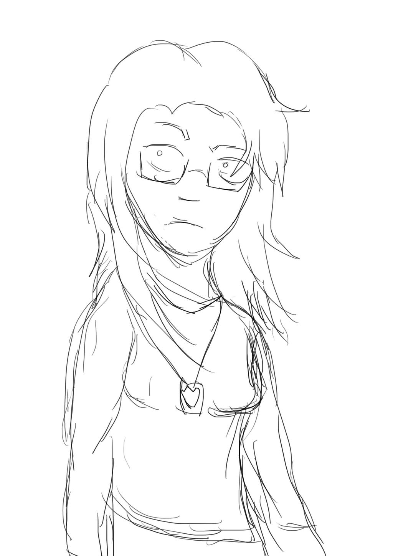 Lazy Sketch #1: Detective Sparrow by AnimeDogz