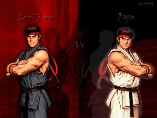 Ryu VS Evil Ryu twisted fate by UltraXmaster