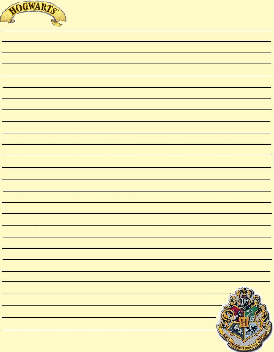 Hogwarts Stationary by PhantomOfARose