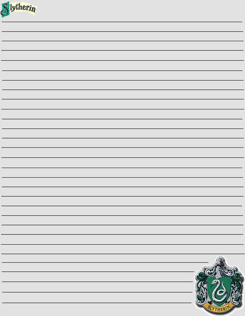 Slytherin Stationary by PhantomOfARose